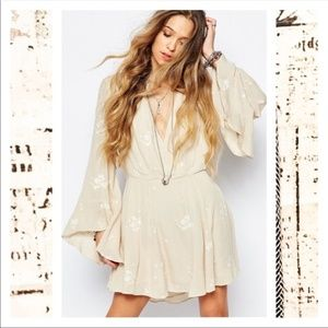 Free People Almond Bell Sleeve Dress - Size 4